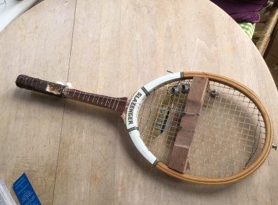vieja raqueta para hacer matamoscas electrico raquetazo
